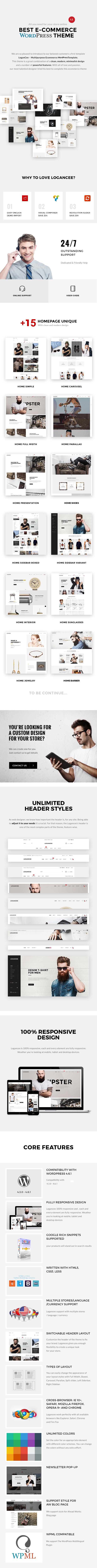 Фото Платный шаблон Wordpress  Logancee - Multipurpose Ecommerce Store Retail Woocommerce Theme — 1logancee wordpress