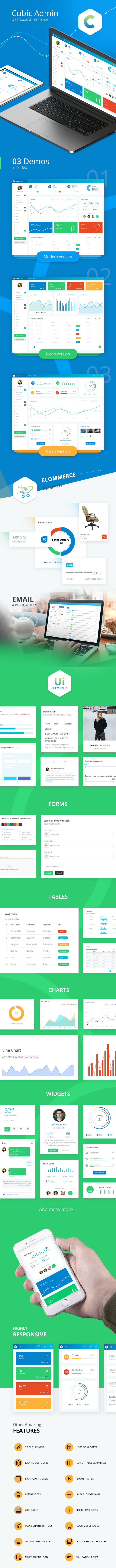 Cubic Admin - Dashboard + UI Kit Framework with Frontend Templates - 1