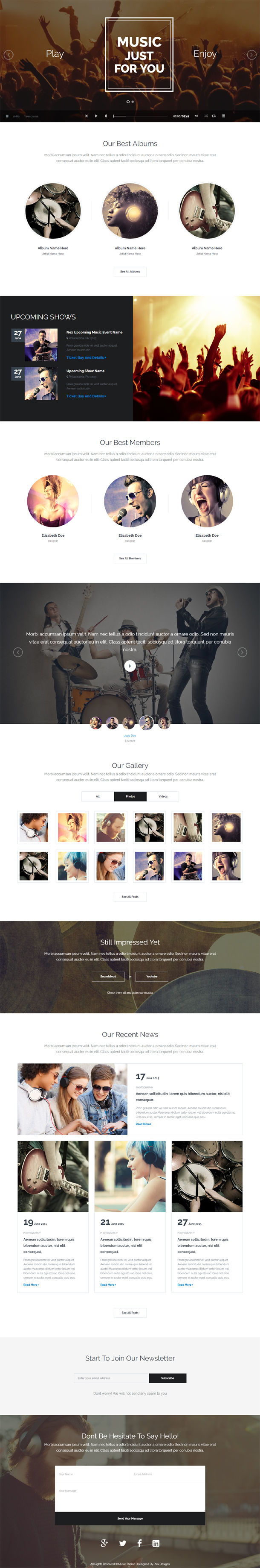 DJ Studio - DJ's, Music Band, Muscians One Page Template - 1