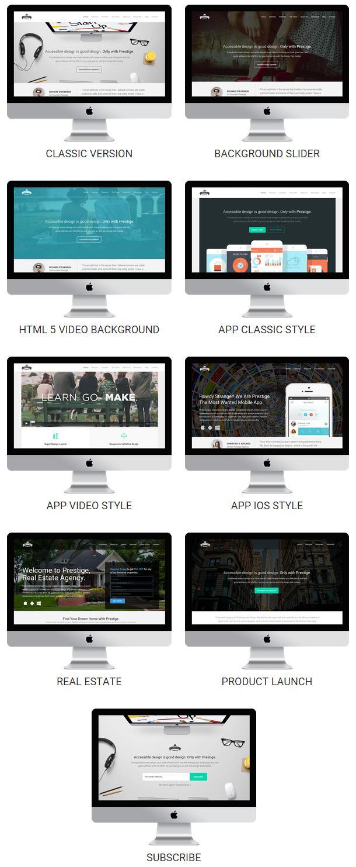 Prestige - Multi Purpose WordPress Landing Pages (Marketing)