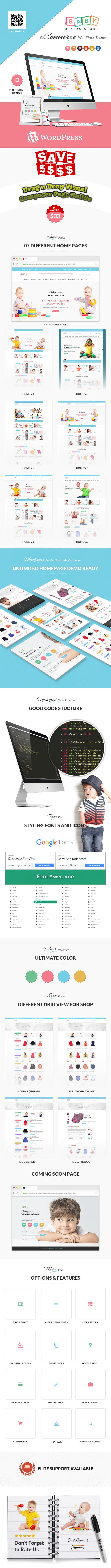 Baby & Kids Store eCommerce Woocommerce WordPress Theme - 3